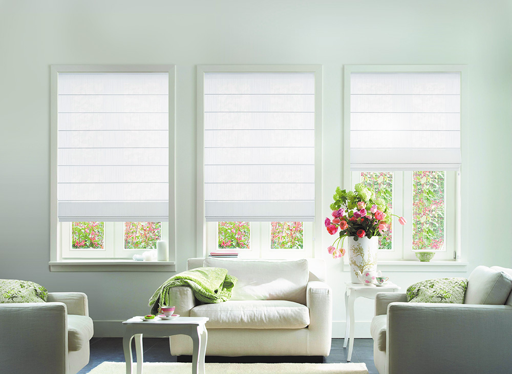 Roman blinds roman roller blinds stort blinds for Ideas de cortinas